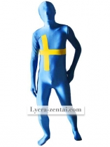 Pattern Of Sweden Flag Unisex Lycra Zentai Suit