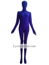 Two-piece Purple Spandex Zentai Costume
