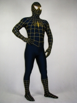 Yellow and Blue Spiderman Lycra Zentai Costume