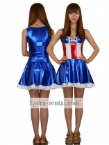 Captain America Sexy Female Superhero Costume