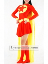 Red & Yellow Heroine Spandex Zentai Suit