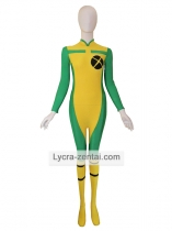 Yellow & Green X-men Rogue Spandex Zentai Suit