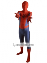 Navy Blue & Red 3D Pattern Ultimate Spiderman Costume