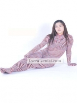 Red Check Spandex Fullbody Zentai Suit