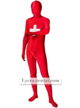 Pattern Of Switzerland Flag Unisex Lycra Zentai Suit