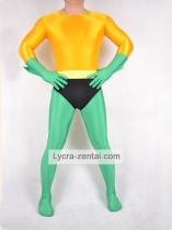 Green Yellow Superhero Costume with Black Pants
