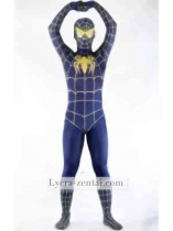 Deep Blue And Yellow Spiderman Costume