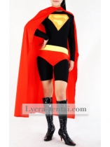 Red & Black Superwoman Zentai Suit