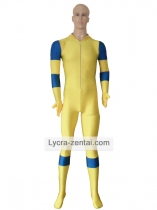 Yellow And Blue Deadpool Costume Spandex Deadpool Zentai