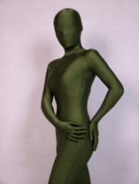 Surplus Green Unicolor Lycra Spandex Zentai Catsuit