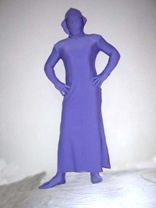 Purple Unicolor Lycra Spandex Zentai Dress and Pant