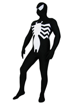 Black Lycra Spandex Spiderman Costume