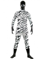 Black and White Unisex Lycra Spandex Zentai Suit