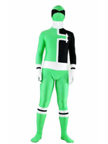 Power Ranger Costume In Green And Black