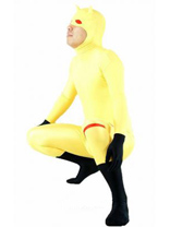 Yellow Dare Devil Lycra Spandex Zentai Catsuit