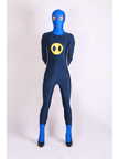 Yellow and Blue Spandex Lycra Fullbody Zentai Costume