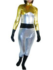 Black Gold Shiny Metallic Super Hero zentai