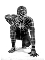 New Spiderman Costume-Black and White Spiderman Costume