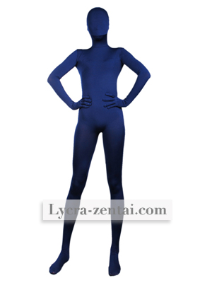 Bleu foncé Fullbody Spandex Zentaï Suit