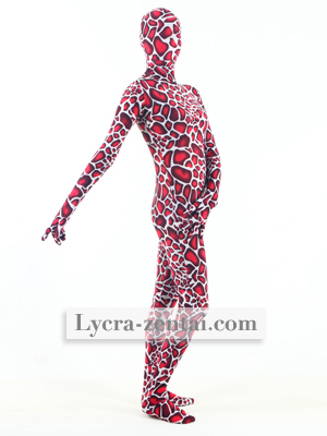 Rouge Pois Lycra Fullbody Zentaï Suit