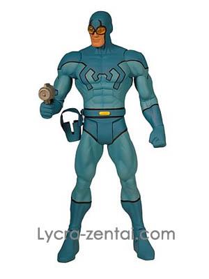 Bleu Beetle Lycra Spandex Super-héros Costume