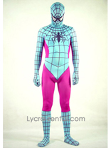 Pink and Light Green Spiderman Costume