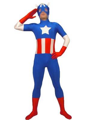 Captaine Americaine Lycra Spandex Zentaï Suit