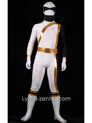 Halloween Blanc et Noir Héro Zentaï Suit